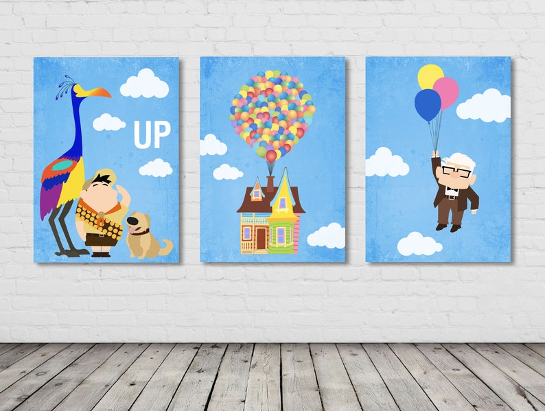 image relating to Up House Printable known as Up poster minimalist / Up home printable / Up household ballon / Up Room ballon print / Up video poster / Up print