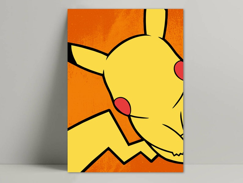graphic relating to Pokemon Posters Printable called Pikachu poster minimalist / Pokemon poster minimalist / Pikachu printable / Pokemon poster wall decor / Pikachu pokeball poster /Pikachu artwork