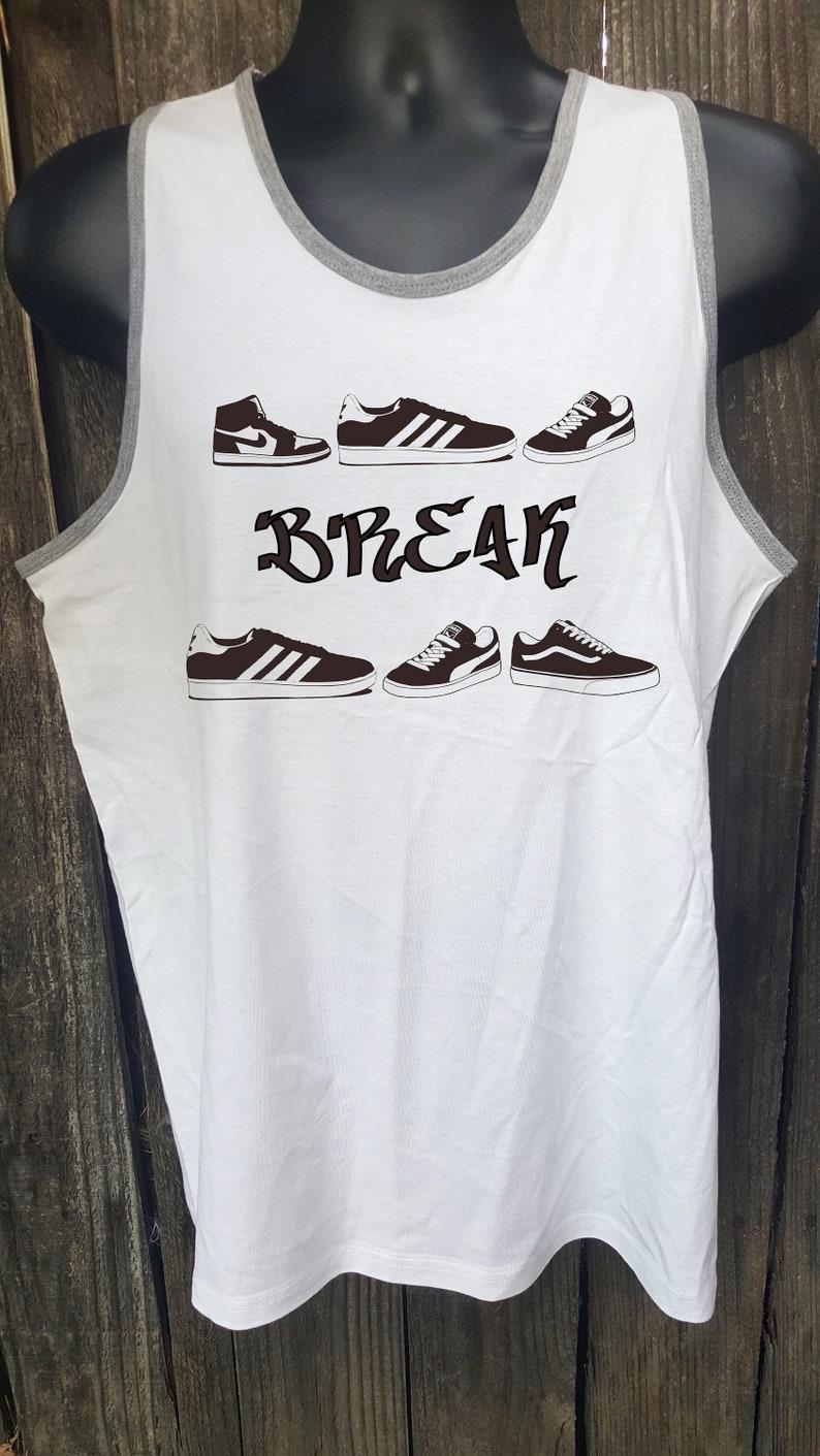 rap Schule Bodybuilding Männer alte Studio Frauen Hop Jahre TopweißSchuhe Breakdance Training hip Schuhe Vintage 80er Adidas Fitness Tank tsChQrdx