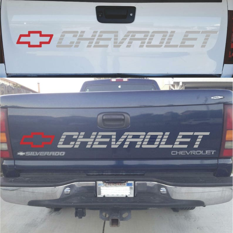 0d6bb6d310 Chevrolet Silverado Tailgate Decal Sticker CHEVY 1500 2500 Bed