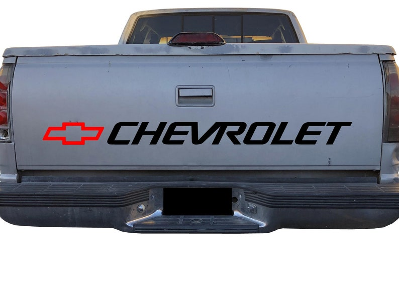 999cb678be Chevy Bowtie Bed Decal Chevrolet Logo for Trucks Silverado