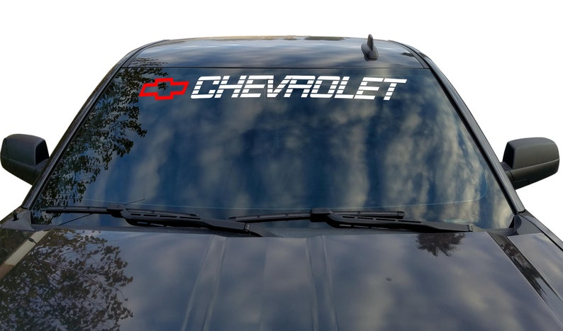 cd4c44e2d8 CHEVROLET Window Decal CHEVY Windshield Sticker Tahoe Vinyl