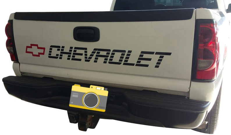 c69d0939db CHEVY SILVERADO Bed Tailgate Decal CHEVROLET Sticker for 1500