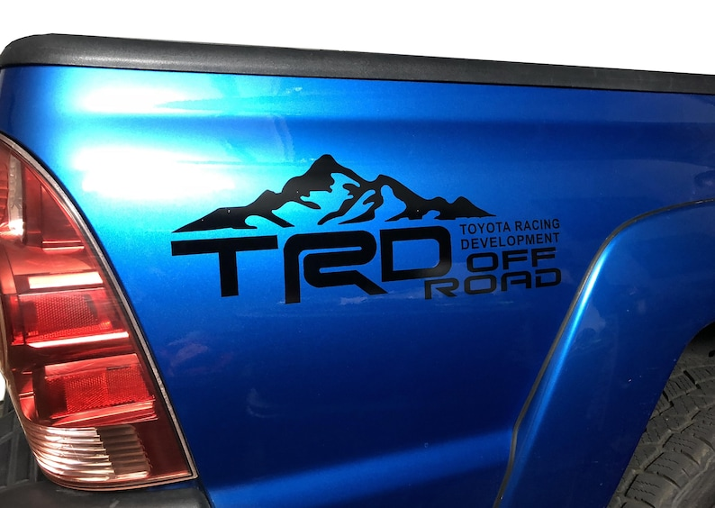 bf7a91d454 TOYOTA TACOMA Bed Vinyl Decal TRD Side Bed Sticker racing