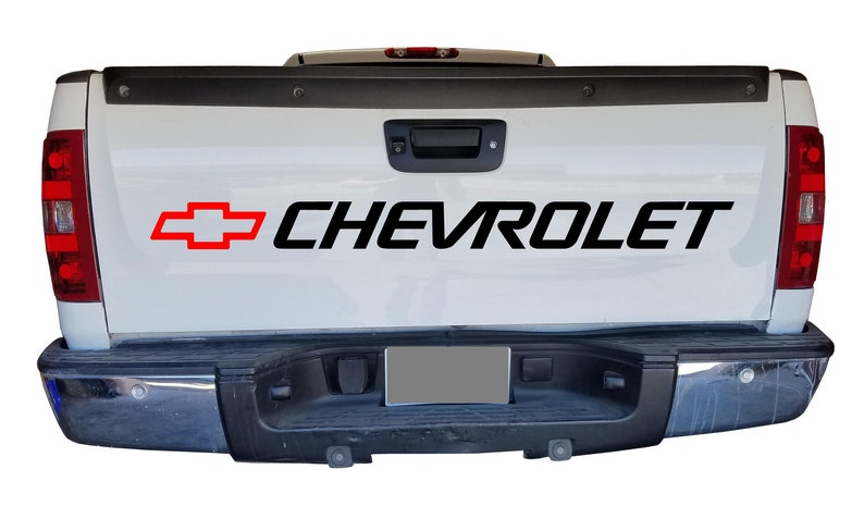 8f2c2f367f Chevy bed sticker decal silverado truck window graphics with