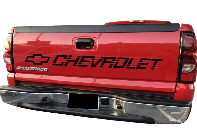 c10925aece CHEVROLET Log With Lines Bed Vinyl Decal Sticker FREE