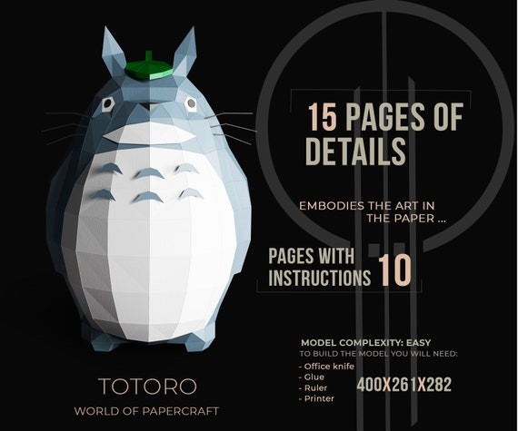 3D Origami Totoro Instruction | Instrucciones de origami ... | 475x570