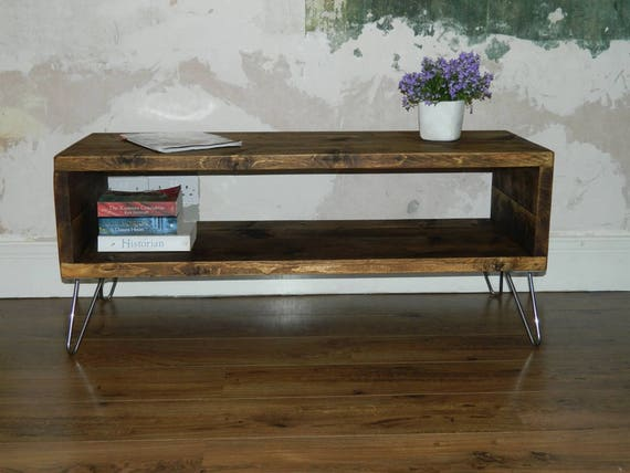 Wooden Coffee Table Crummock Rustic Coffee Table Etsy