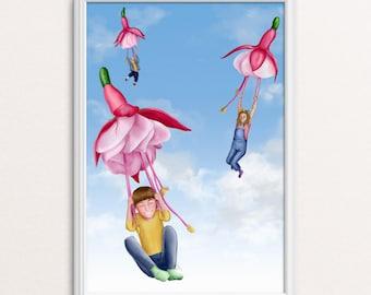 Poster Babykamer Pastel : Kinderkamer poster etsy