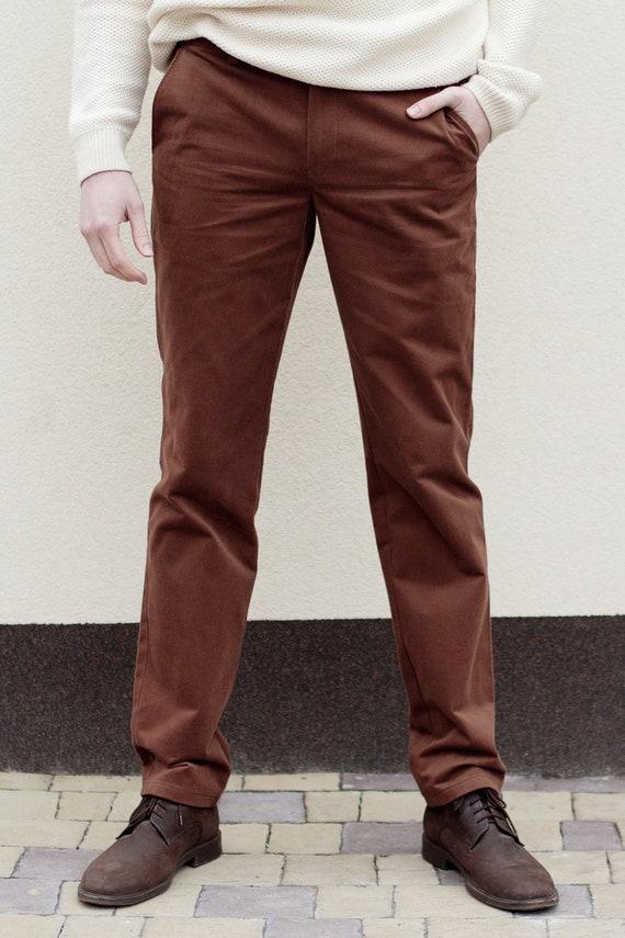 e799fb533d0 Whiskey Brown Chinos Brown chinos mens pants Big and tall