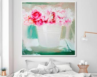 Pink flower painting etsy large wall art abstract painting original painting oil painting canvas art large canvas art paintings on canvas pink flower painting mightylinksfo
