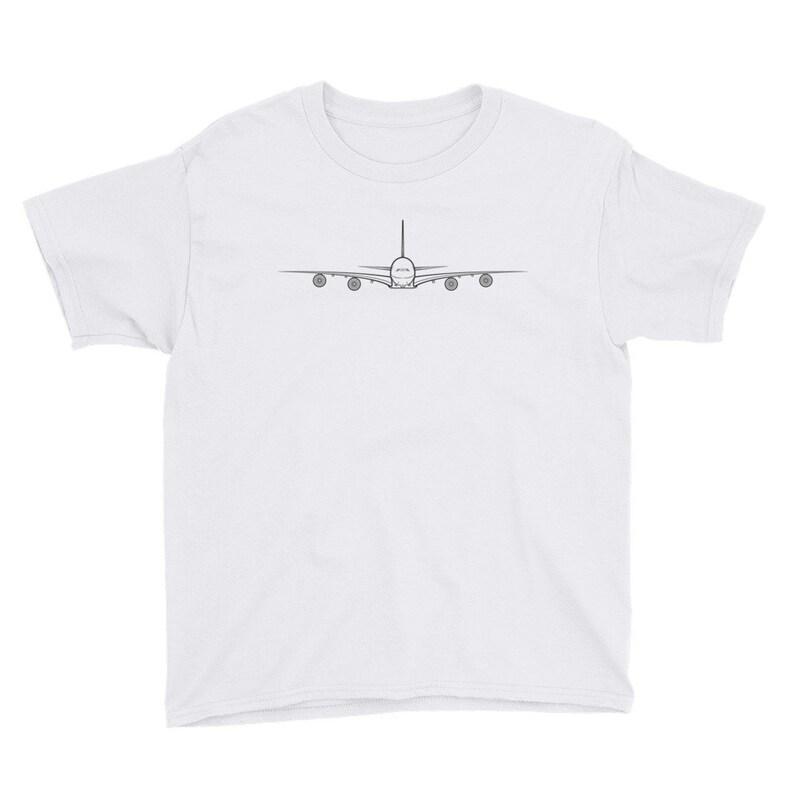 bd9b3ce3 Kids Airplane T-Shirt Airbus A380 Ringspun Cotton Fabric   Etsy