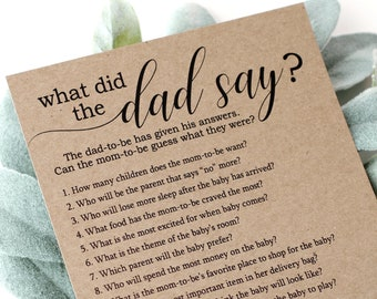 What Did The Dad Say? Baby Shower Game
