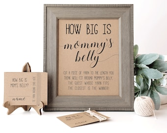 How Big is Mommy's Belly Game, Baby Shower Games