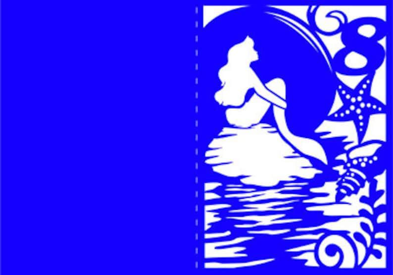 maritime invitation Cricut laser cute sea quincea\u00f1era mermaid Set Wedding Invitation SVG Template Silhouette Cameo