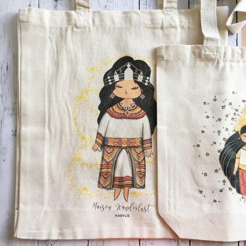gift Southeast Asia enjf cotton Tote bag Viet Nam shoulder world illustration wedding anniversary Tote tote bag