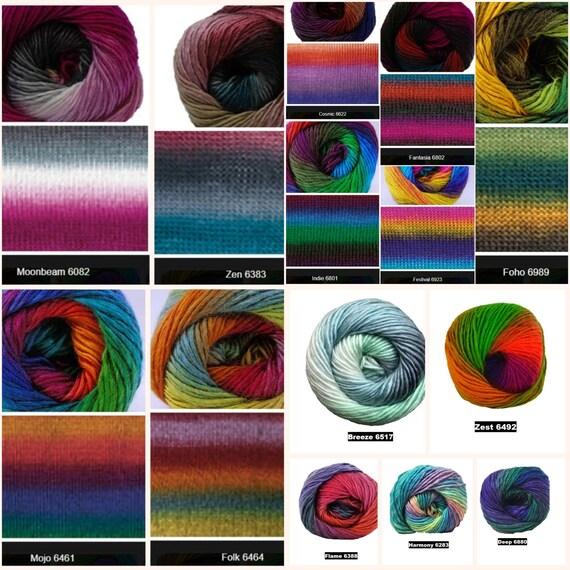 Cygnet Boho esprit Double Knitting Yarn 100 g 6383 zen