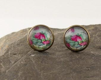 Stud Earrings Bronze Spring