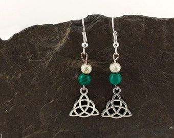 Earrings Malachite Silver PLATED