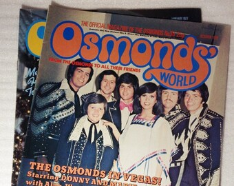 Osmonds world magazines, originals, 36 and 39 choice, The osmonds, band, fan, collectables, retro, 1970s, magazine