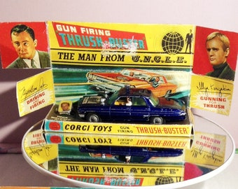 Vintage, toy, car, Corgi, Man from uncle, rare, boxed, with accessories, collectables, tv memorabilia, old, tv shows, gifts, gift ideas