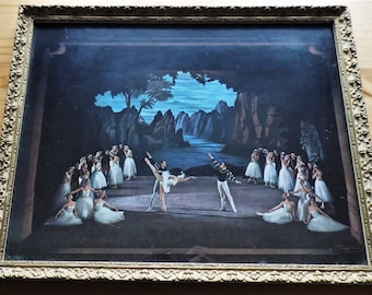 Swan lake The sadlers wells theatre ballet company, Large framed photo/print (Roger Woods)