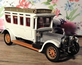 Rolls royce 1912 model car, vintage. Corgi car, Resprayed. Unique. Gift.
