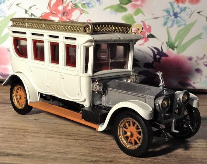 Featured listing image: Rolls royce 1912 model car, vintage. Corgi car, Resprayed. Unique. Gift.