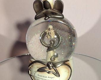 Vintage ornaments, snow globe, guardian angels, memorial ornaments, memorial gifts, regency, room decor, memorial decor, gift ideas