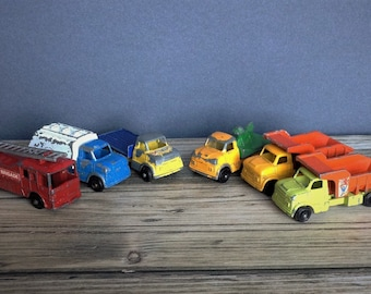 Vintage 1960s Toy Trucks, Lone Star, Tuf Tots. Display only.