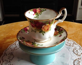 Royal Albert coffee cups and saucers, Old Country Roses