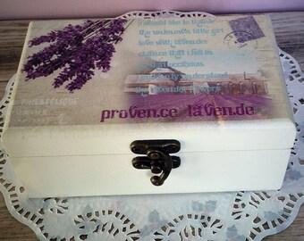 Jewellery trinket box Provence Lavender, storage, laven.de.