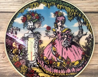 Glass picture,Decorative, with inbuilt thermometer,