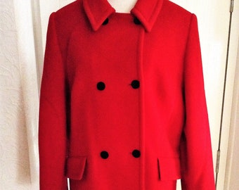 Cashmere red winter coat, size 14, windsmoor, womens, lined.
