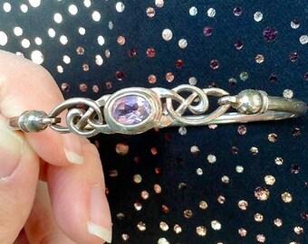 Celtic knot, CME Bangle, Bracelet. Silver colour.