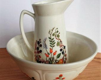 Jug and bowl, Aynsley somerset, shabby chic, Vintage  Fine bone china.