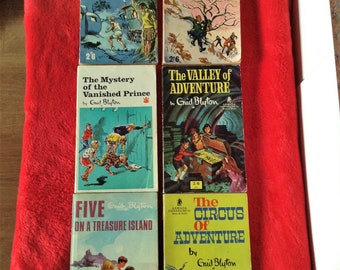 Enid blyton, selection of 6 books, vintage 60s and 70s, paperbacks.