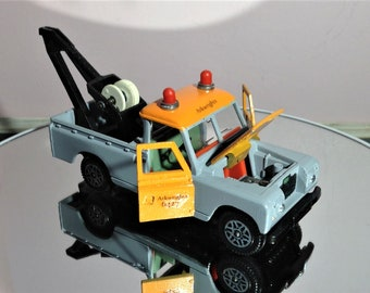 Vintage toys, collectibles, Dinky land rover, Breakdown crane 442, 1970s, one off custom, vehicle, childhood, mancave
