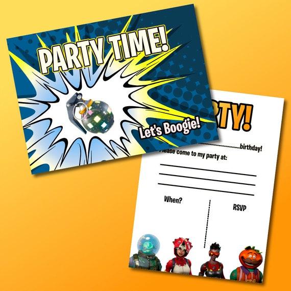 Fortnite D Anniversaire A Theme Invite Pack De 12 Faire Parts De