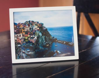 Cinque Terre, Italy, Framed 8x10 Photograph