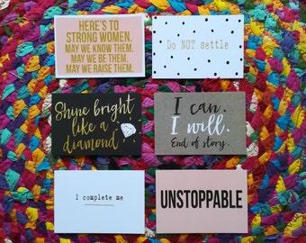 Mini Positive Postcards Set Of 6 Mental Health Gift