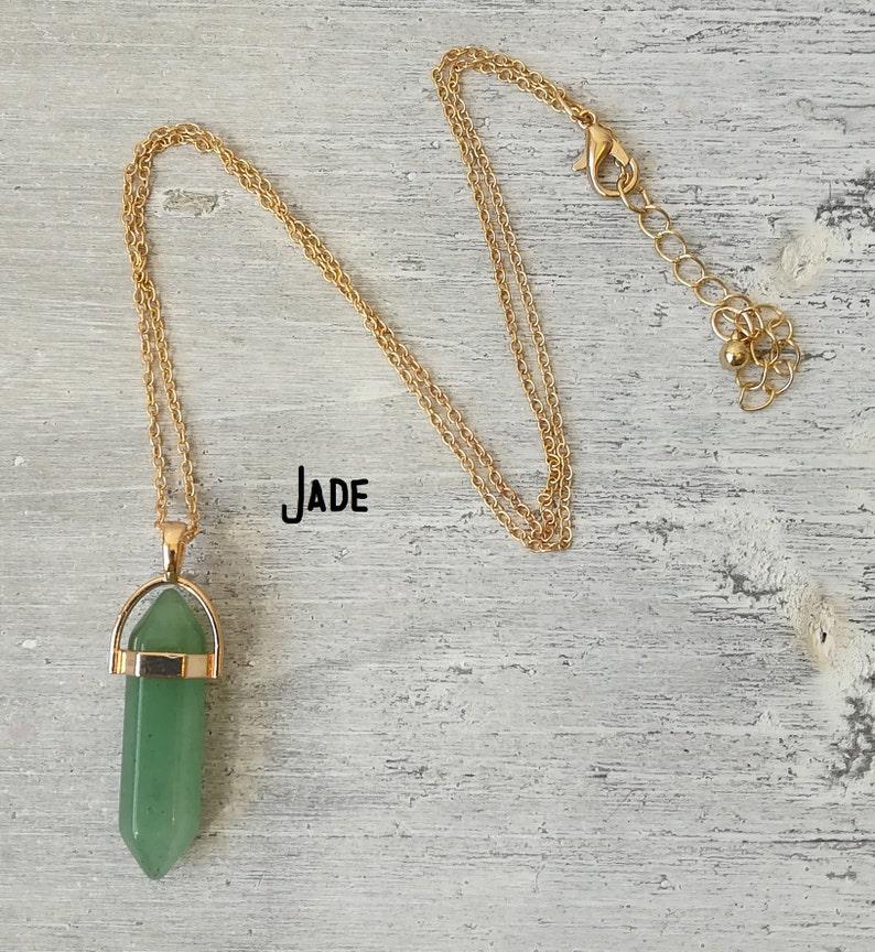 Jade Crystal Necklaces Blue Sodalite Crystal Pendants Healing Crystals Crystal Jewelry Amethyst Lapis Lazuli /& Rose Quartz