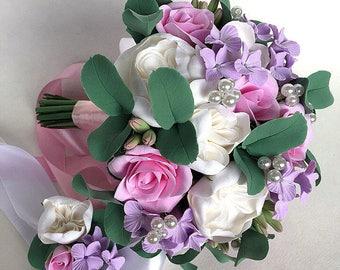 Lilac bouquet Alternative bouquet Brooch bouquet Keepsake bouquet Bridal Bouquet Wedding Bouquet Bridesmaid bouquet White Beaded bouquet