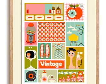 """Poster A3 Patch """"VINTAGE"""""""