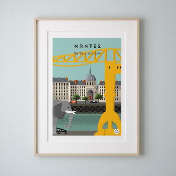 Poster Nantes Quai des Antilles