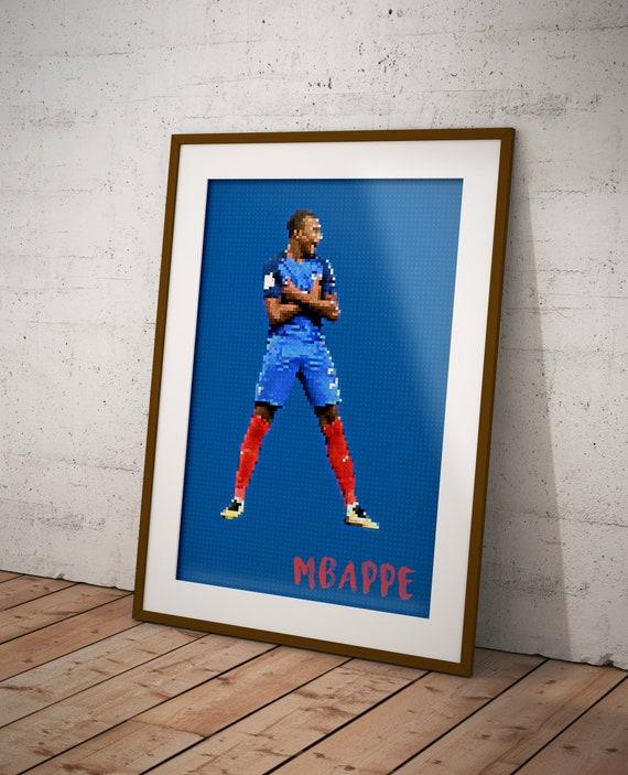 Mbappe Psg Kylian Mappe France Football Poster Art Football Soccer Pixel Art