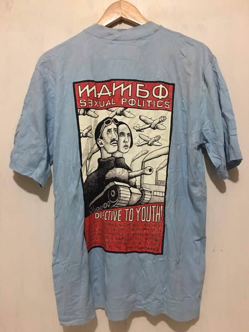 9a5ac2f46143 Free Shipping Vintage Mambo Sexsual Political shirt mambo