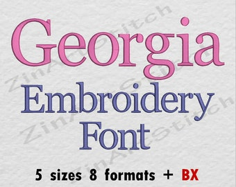 Embroidery fonts   Etsy