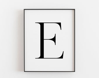 graphic about Letter E Printable known as Letter e printable Etsy