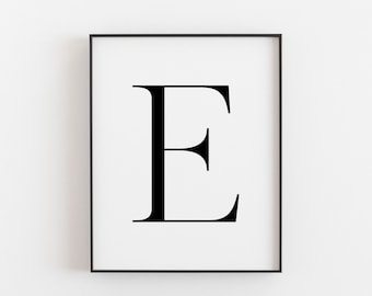 graphic regarding Letter E Printable identified as Letter e printable Etsy